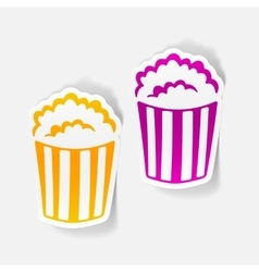 Realistic design element popcorn vector