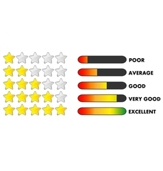 Rating stars and bars vector image