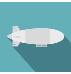 Airship icon flat style vector
