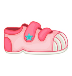 Child shoes vector