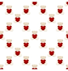 Teddy bear valentines day card vector