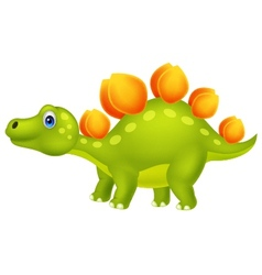 Cute stegosaurus cartoon vector image