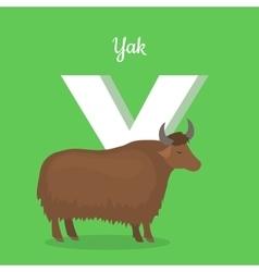 Animal Alphabet Concept in Flat Design vector image