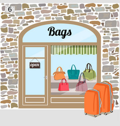 Bags shop or bags store vector