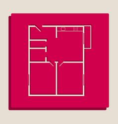Apartment house floor plans grayscale vector