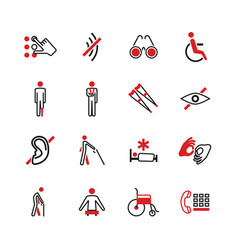 Disabled icons vector