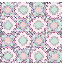 Abstract geometric seamless pattern floral vector
