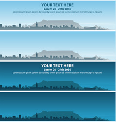 Cape town skyline event banner vector
