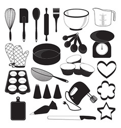 Baking tool icons set vector