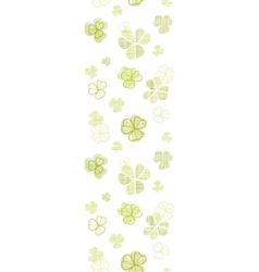 Clover textile textured line art vertical seamless vector