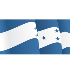 Background with waving Honduras Flag vector image