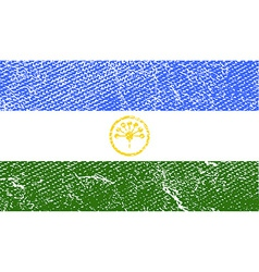 Flag of bashkortostan with old texture vector