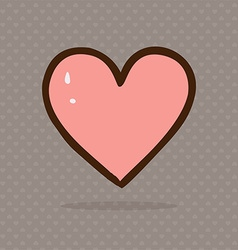 Hand drawn love heart vector