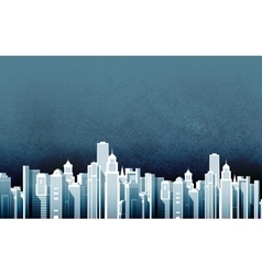 Urban landscape skyscrapers in a big city vector