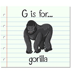 Flashcard letter g is for gorilla vector