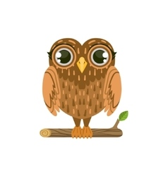 Owl friendly forest animal vector