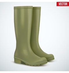 Pair of hunters boots vector