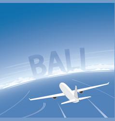 Bali flight destination vector