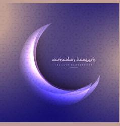 Beautiful ramadan festival moon on purple vector