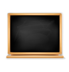 Black blackboard vector