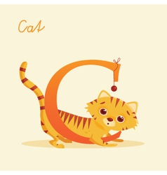 C for cat vector image vector image