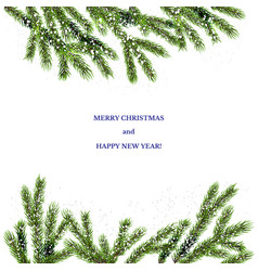 christmas snow tree vector image vector image