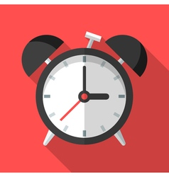 Colorful alarm clock icon in modern flat style vector