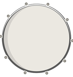 Drum top view vector image vector image