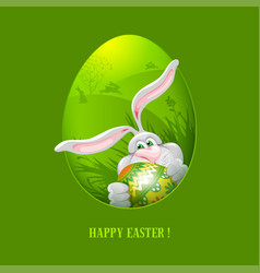 easter greeting card template vector image vector image