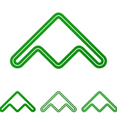 Green line product logo design set vector image