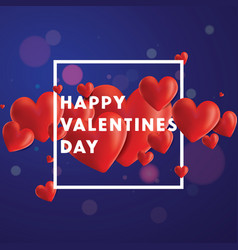 happy valentines day background vector image vector image