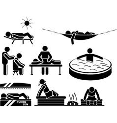 Icon men in relax vector