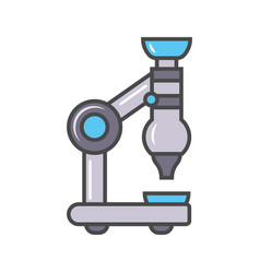 Laboratory microscope linear icon vector