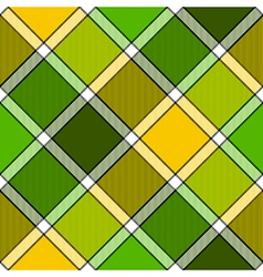 Lime color diagonal check plaid seamless pattern vector
