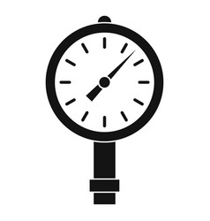 Manometer or pressure gauge icon simple vector