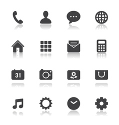 Mobile Phone Icons for application vector image vector image
