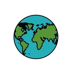 planet earth isolated icon design vector image vector image