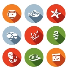 Set of Aquarium Icons Capacity fish vector image vector image