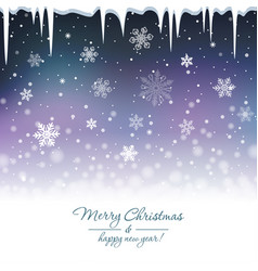 Snowy blue background vector
