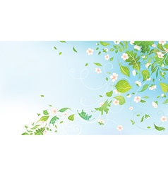 Spring in the air vector image