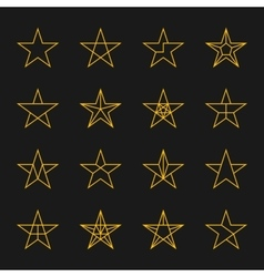 Stars set vector image vector image