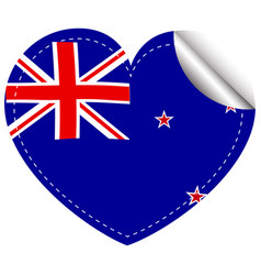Sticker design for new zealand flag vector