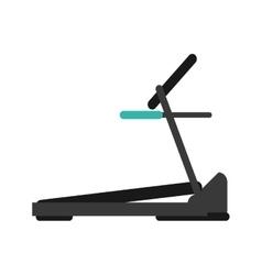 Treadmill machine sport fitness vector