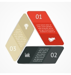 Triangle infographic Diagram graph vector image vector image
