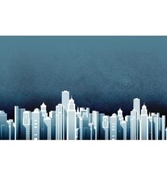 urban landscape skyscrapers in a big city vector image