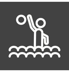 Water polo vector