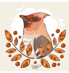 Wax bird colorful tattoo vector image
