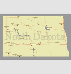North dacota state map with community assistance vector