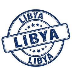 Libya blue grunge round vintage rubber stamp vector