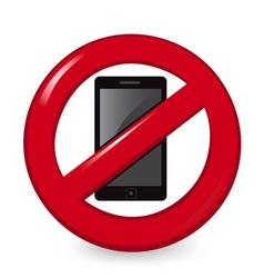 No Phones vector image
